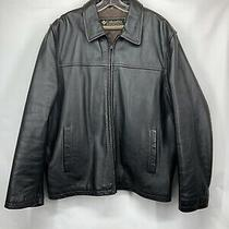 Columbia Leather Jacket L Large Mens Tobacco Brown Motorcycle Biker Jacket Photo