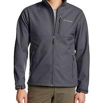 Columbia Men's Ascender Softshell Front-Zip Jacket - Medium - Graphite Gray Photo