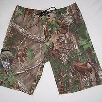 Columbia Mens Camo Pfg Fishing Offshore Board Shorts Trunk Size 34 X 11 Photo