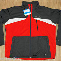 Columbia Men's Depictor Softshell Jacket Size Xxl Red/gray - Insulated - Nwt Photo