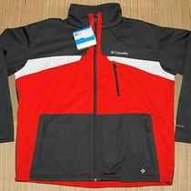 Columbia Men's Depictor Softshell Jacket Xxl Red/gray - Insulaned - Nwt Photo