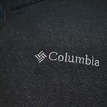 Columbia Men's Fleece Vest Size Xlt Black Camping Hiking Outdoor Photo