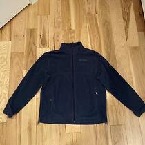 Columbia Mens Fleece Zip Up Sweater Dark Blue Large Photo
