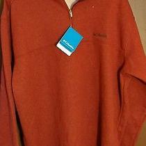 Columbia Men's Hart Mountain Ii Half Zip Xxl Red Element Heather Free Fast Ship Photo