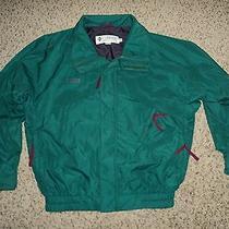 Columbia Men's Medium Green and Purple Radial Sleeve Nylon 100% Jacket Photo
