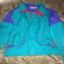 Columbia Men's Mediumteal & Purple Red Jacket Radial Sleeve Powder Keg Size Xl Photo