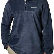 Columbia Men's Mountain Half Zip Fleece Sweater Collegiate Navy Xxl - New Photo