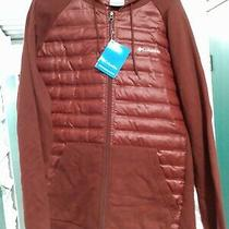 Columbia Men's Northern Comfort Hoody Hoodie Large Deep Rust Red Burgundy  Photo