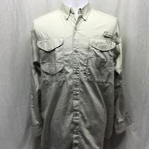 Columbia Men's Pfg Side & Back Vented Fish L/s Shirt Size Med. - Awesome Photo