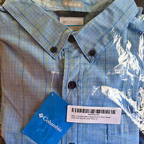 Columbia Men's Rapid Rivers Ii Xl Short Sleeve Shirt Blue Sky Plaid X-Large Nwt Photo