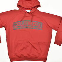 Columbia Men's Size 2xl Pullover Hoodie Hoodie Jacket  Polyester Red Solid Class Photo