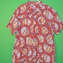 Columbia Men's Size Xl River Lodge Red Drum Amber Ale Short Slv Button Shirt Photo