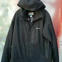 Columbia Men's Ski / Outdoor Black Omni-Heat Zip Up Winter Jacket Size Xl Photo
