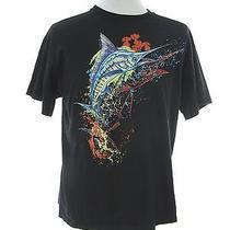 Columbia Men's Swordfish Tee Shirt Size L Large Fishing Black  Photo