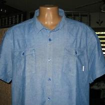 Columbia Men's Western Style Short Sleeve Shirt Xxl Blue Xm7511 Photo