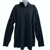 Columbia Mens Black 1/4 Zip Fleece Pullover Long Sleeve Jacket Sz Extra Large Xl Photo