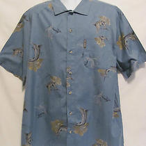 Columbia Mens Camp Marlin Fish Fishing Hawaiian Sportswear Sz Xl Blue Outdoor Photo