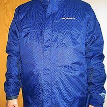 Columbia Mens Coat Ski Jacket Mountain Marvel Navy Nwt 180 Large 3 in 1 Omni  Photo