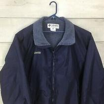 Columbia Mens Dark Blue Puffer Jacket Mens Size Xxl Excellent Photo