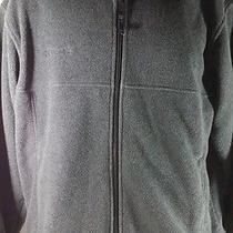 Columbia Mens Full Zip Outdoor Sportswear Fleece Size M Black  Photo
