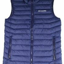 Columbia Mens Jacket Blue Size Large L Front Zip Puffer Thermal Vest 110 292 Photo