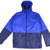 Columbia Mens Jacket Blue Size Large L Roan Mountain Full-Zip Hood 75 086 Photo