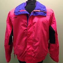 Columbia Mens Retro Bugaboo Radial Sleeve Pink Purple Ski Jacket Size L Coat Euc Photo
