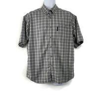Columbia Mens Short Sleeve Button Down Shirt Size L Large Blue Sp04xm7091 Photo
