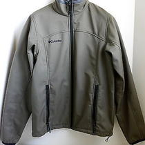 Columbia Mens Softshell Mock Collar Zip Down Jacket Size S Photo