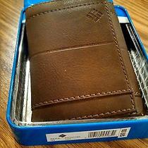 Columbia Mens Trifold Leather Wallet Tan 31co1162 Photo