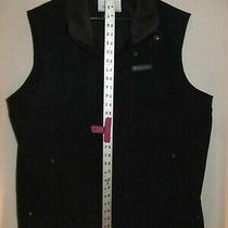 Columbia Mens Vest Heavy Duty Fleece Lined Black Size Large Lyk Nu  Photo