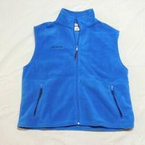 Columbia Mens Vest Size Xl Blue Full Zip Polyester Fleece Vest  Photo