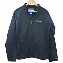 Columbia Mens Water Resistant Jacket Black Polyester Omni-Shield New Photo