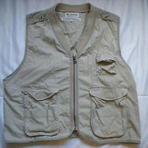 Columbia Mens Womens Unisex Fishing Photography Vest Euc Size Xl Photo