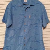 Columbia Mens Xl Blue Tuna Fish Shirt Photo