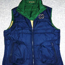 Columbia Ncaa Notre Dame Reversible Insulated Vest Women's L Photo