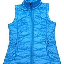 Columbia Omni Heat Puffer Vest Womens Size M Blue Lightweight Packable Full Zip Photo