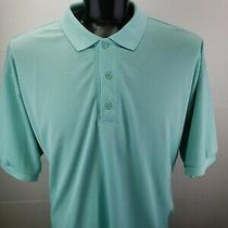 Columbia Omni-Shade Pfg Polo Shirt Mens Xxl Vented Aqua Cyan Blue Mint Photo