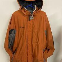 Columbia Omni-Tech Mens Xl Orange / Grey Jacket Ski Outdoor Winter Excellent Con Photo