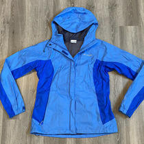 Columbia Omnitech Hooded Rain Wind Zip Up Jacket Womens Size Medium Photo
