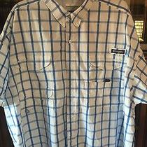 Columbia Outdoor Performance Fishing Gear Shirt 4xl in Awesome White With Blue Photo
