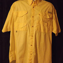Columbia Performance Fishing Gear Mens Xl Short Sleeve Shirt Summer Fishing Photo