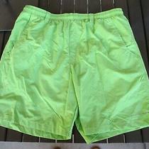 Columbia Pfg Fishing Gear Omni Shade Fishing Water Shorts Lime Green Large 8  Photo