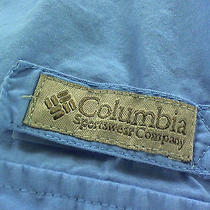 Columbia Pfg Fishing Gear Sky Blue Fly Fishing Hiking Camping Vented Shirt Sz Xl Photo