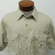 Columbia Pfg Fishing Sz Xl Sports Wear Casual Fishing Bttn Down Mens Beige1723 Photo