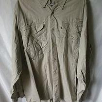 Columbia Pfg Long Sleeve Shirt  Fishing Button Down Size L Photo
