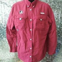 Columbia Pfg Men's Size Small Vented Fishing Shirt Florida Seminoles Omni Shade Photo