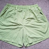 Columbia Pfg Mens Pockets Board Swim Shorts Trunks Size L Ins 6 Upf Lime Green  Photo