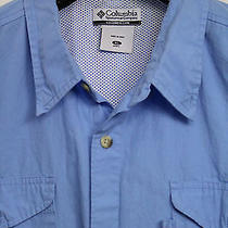 Columbia Pfg Performance Fishing Gear Mens Fishing Shirt Size Xl Vented Back Photo