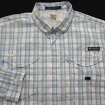 Columbia Pfg Super Bonehead Fishing Shirt Xl  Plaid 100% Cotton Performance  Photo